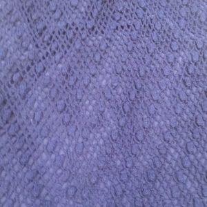 Vintage Skirts - Gorgeous blue crocheted vintage midi skirt